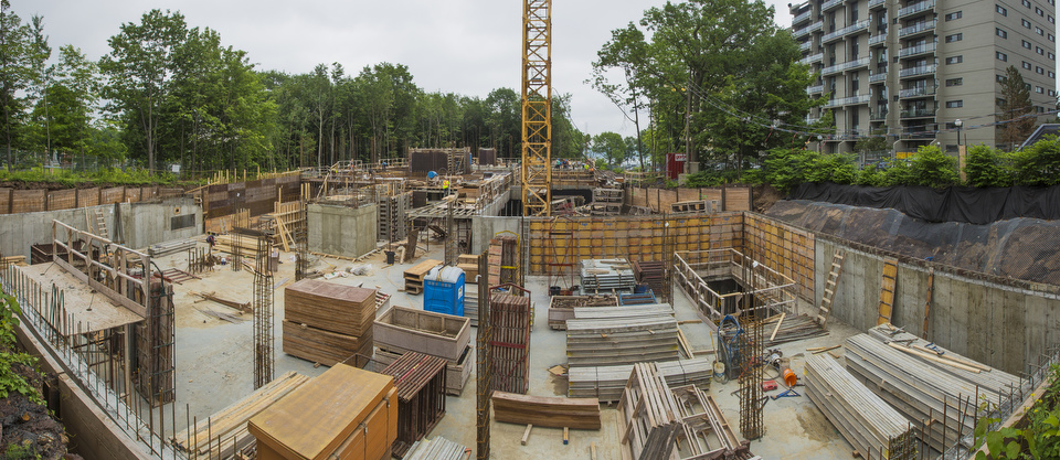 Panoramique du chantier Woodfield-Sillery, le 30 juin 2015. Photo Francis Vachon.